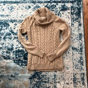 Banana republic cowl neck cable knit sweater